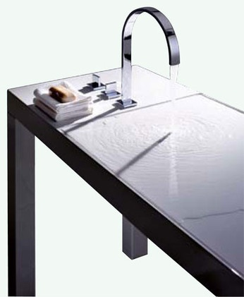 Flat Sink By Alape    Seems To Be Merely A Table But Actually Features A