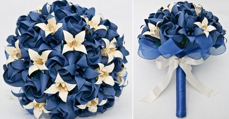 ORIGAMI: buquê de rosas e lírios de origami. Da A&M Origami (www.amorigami.com.br). R$ 249. Disponibilidade e preço pesquisados em abril de ...