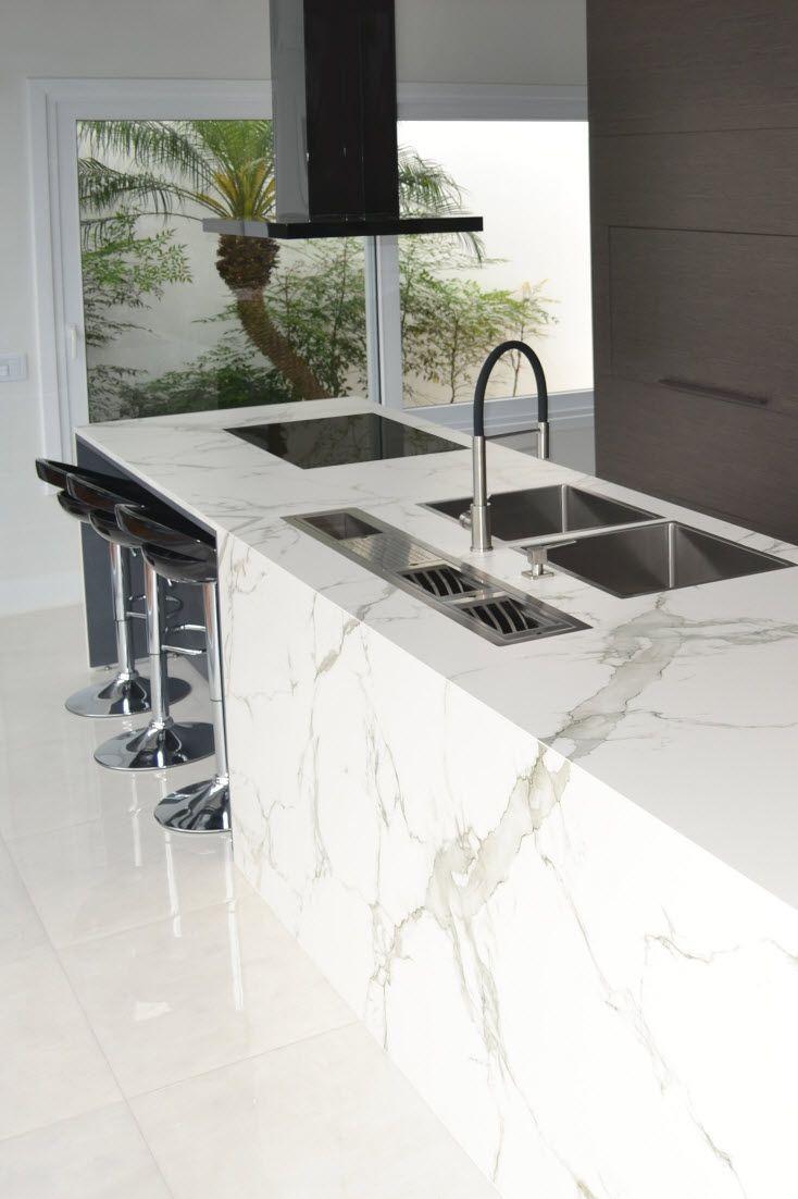 Neuester Kuchentrend Marmor Mit Marmor Wirkt Ihre Neue Kuche Stilvoll Und Elegant Marmor Dekore Lassen Sich Kuchen Design Haus Kuchen Kuchentrends