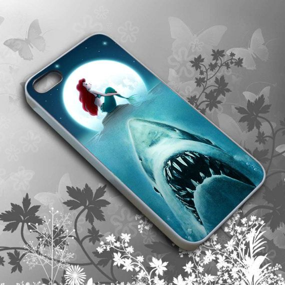 Ariel Shark Jaws Cell Phone Iphone 4 4s 5 5s 5c Case