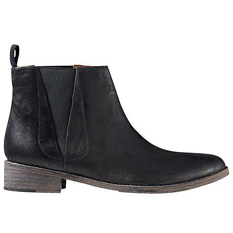 Buy Jigsaw Hetti Casual Chelsea Boots, Black Leather Online at johnlewis.com