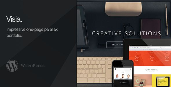 Visia - Responsive One Page Retina WordPress Theme