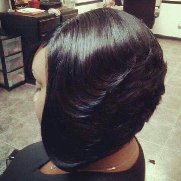Feathered Bob Black Hair