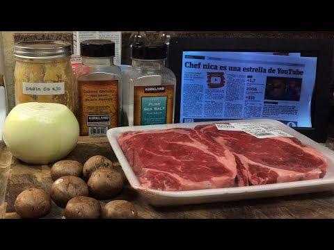 Delicioso almuerzo para enamorados 🥔 🍖 🍄 - Carne con salsa de hongos recetas cocinemosjuntos - YouTube
