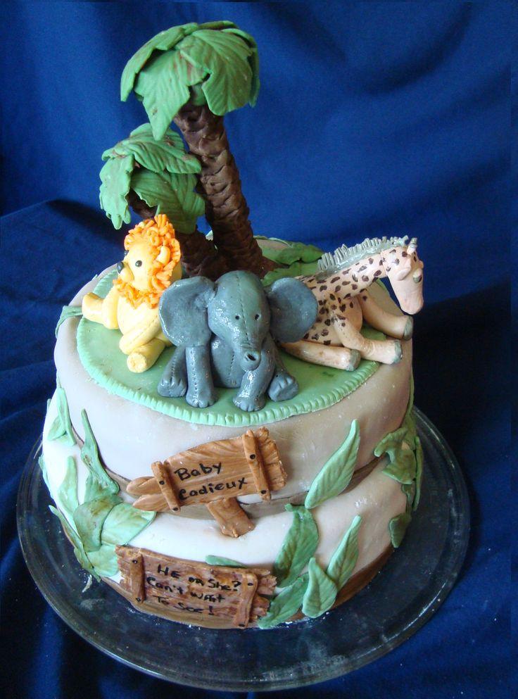 Cadieux Baby shower Safari cake Aug 1, 2015