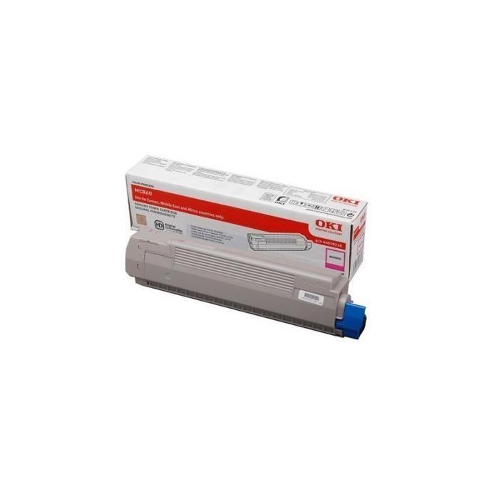 OKI Cartouche toner 44059209 – Compatible MC860 – Capacité standard 10.000 pages – Jaune