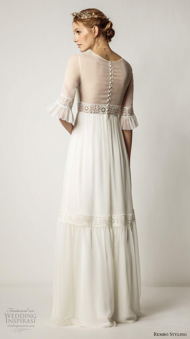 1086 best Half sleeve wedding dresses. images on Pinterest | Wedding ...