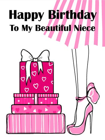 60 best birthday cards for niece images on pinterest pink gift box happy birthday card everyone loves birthday presents so your niece will bookmarktalkfo Image collections