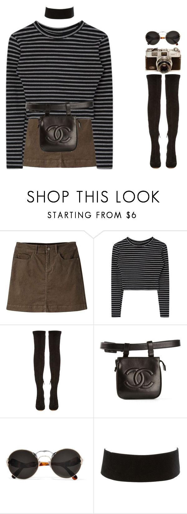 """6017"" by tiffanyelinor ❤ liked on Polyvore featuring Mountain Khakis, Nicholas Kirkwood, Chanel, Prada and Charlotte Russe"