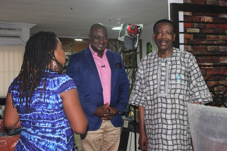 A.I.G Osanaiye(Rtd) arriving the studio for the interview