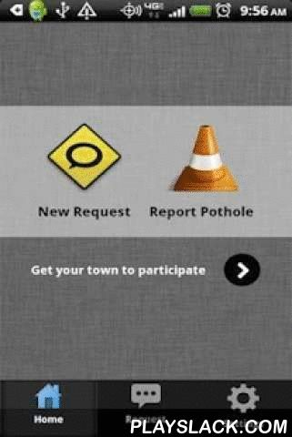 Pothole Alert 311  Android App - playslack.com ,  Got a city problem? Use this free app to report non-emergency issues to your city, county, or DOT (graffiti,abandoned vehicle,potholes,downed tree,broken traffic light,broken sidewalk, etc) by using GPS.