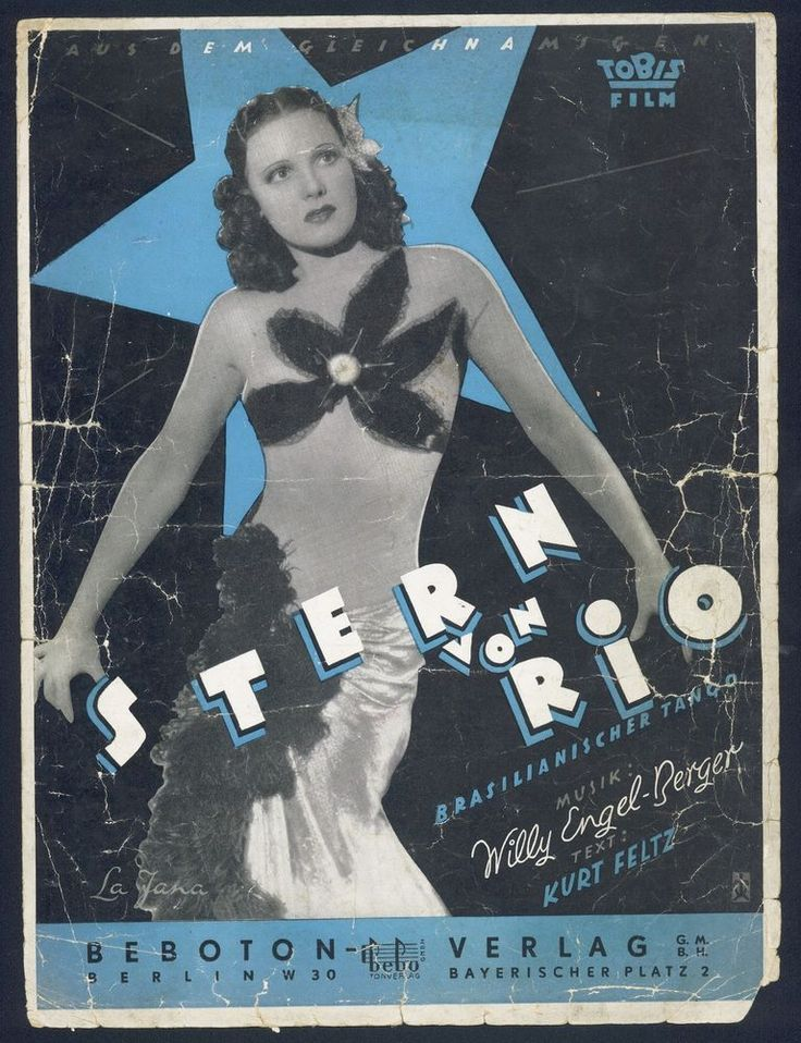 WILLY ENGEL-BERGER - STERN VON RIO - BRASILIANISCHE TANGO SERENADE - 1950 NOTE