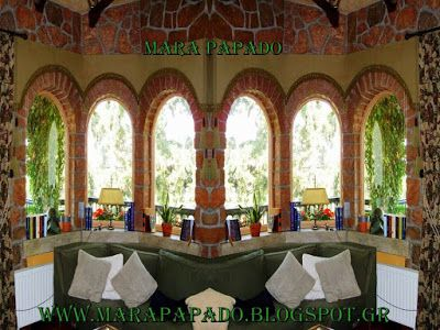 Ιδέες διακόσμησης | Decoration ideas | Κουρτίνες | Σχέδια κουρτινών: Κουρτίνες πολυτελείας σε πέτρινα σπίτια