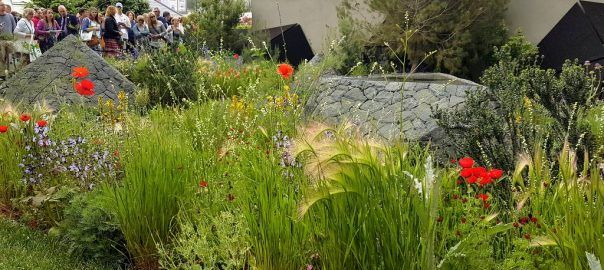 The Royal Bank of Canada Garden was designed by Hugo Bugg and built by Landscape Associates & Himalayan Landscaping.  The RHS judges awarded The Royal Bank of Canada Garden a Silver-Gilt Medal, at The RHS Chelsea Flower Show 2016.