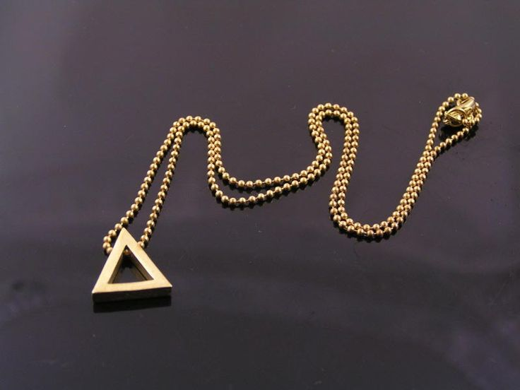 Triangle Necklace, Geometric Necklace, Geometric Jewelry, Minimalistic Jewelry, Minimalist Jewelry, Minimalist Necklace, Choker Gold by ClassicMinimalist on Etsy