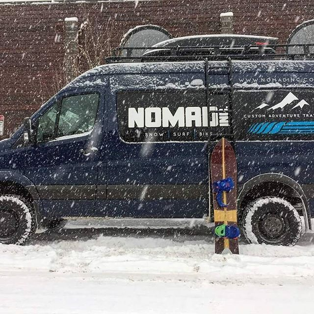 @nomadinc is a travel adventure company in Colorado.  They just oufitted their rig with Aluminess roof rack and ladder   #aluminess #roofrack #ladder #adventurevan #adventuremobile #sprintervan #sprinter #mercedes #coloradogram #coloradoadventure