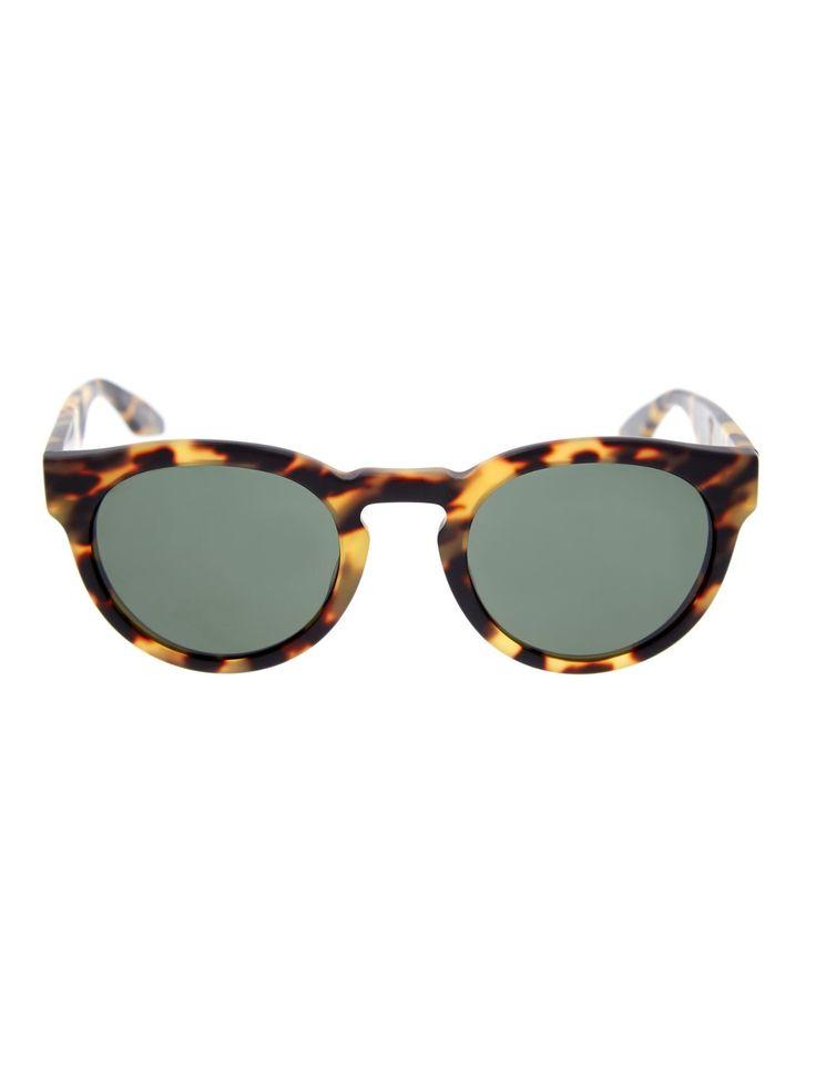 Barton Perreira Dillinger Round-Framed Sunglasses in Black for Men (BLACK BROWN)