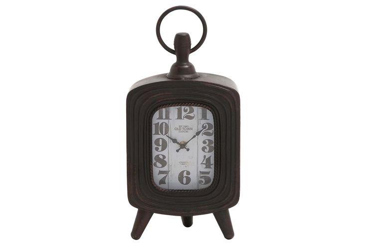 17 Inch Square Metal Clock - Signature