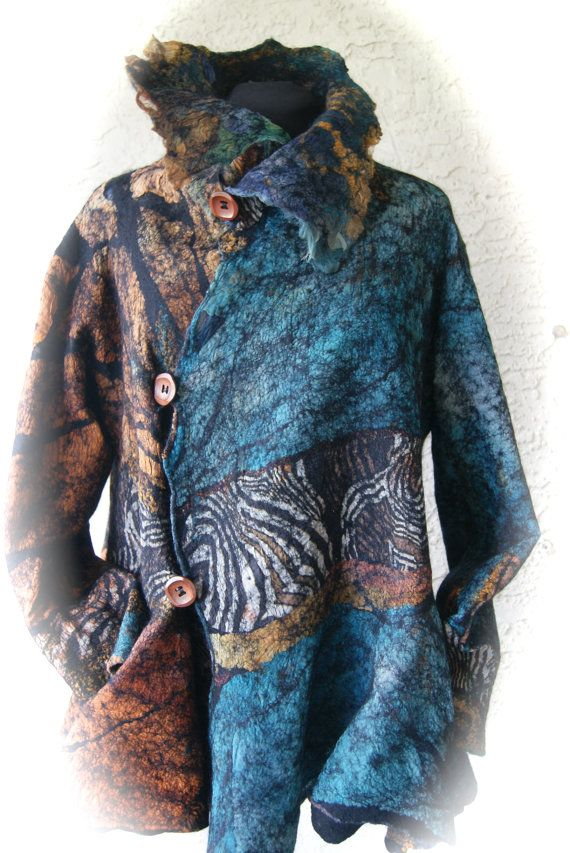 Nuno Felted ButterflyJacket Size M a by sugarplumoriginals on Etsy, $1500.00
