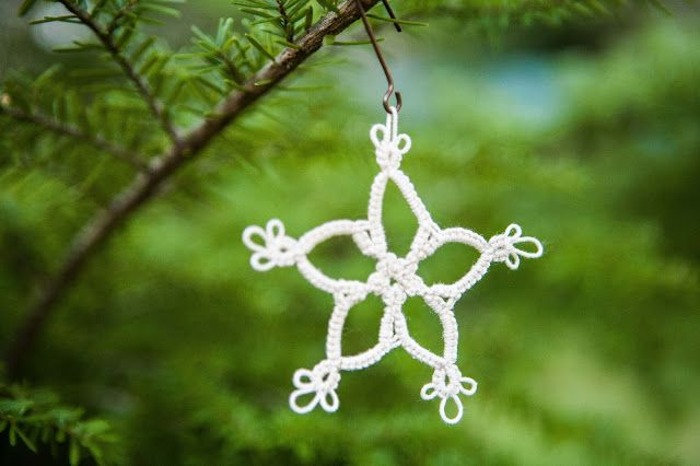 "Tatted ""Snowflake"" Tutorial (Full Project!) with FREE PATTERN. How-to video for Needle Tatters, Pattern suitable for Shuttle or Needle Tatters!"