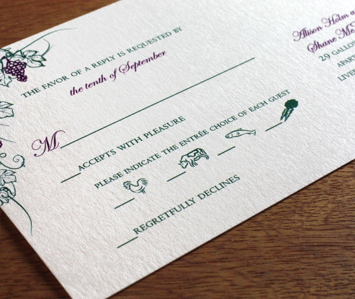 caballero letterpress wedding invitation by invitations by ajalon