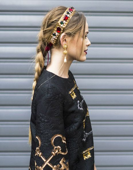 Beautiful braids at the D&G show at Paris Fashion Week http://asos.to/1opSvwg