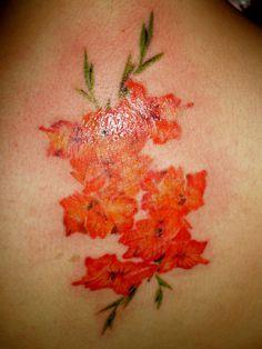 Gladiolus Tattoo on Pinterest | August Birth Flowers Aster Tattoo and ...