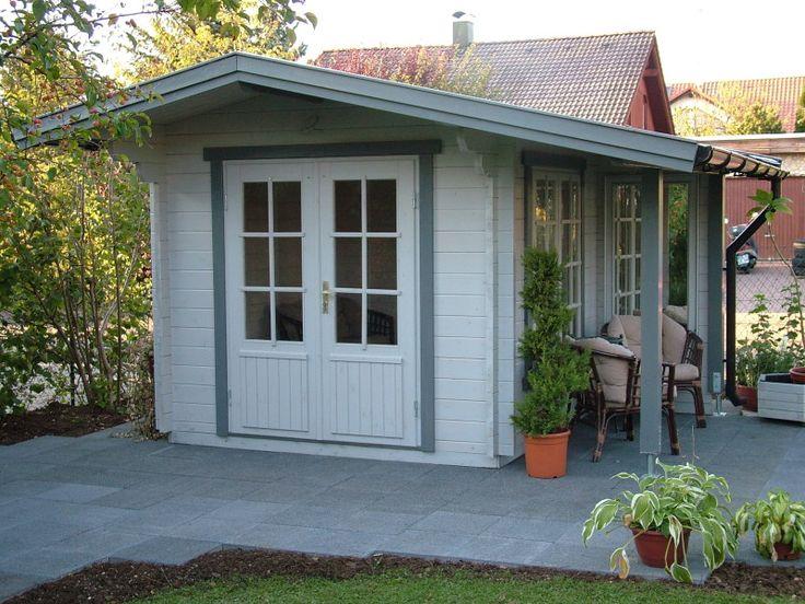 Elegant modernes Gartenhaus mit seitlichem Freisitz G ste Gartenhaus Pinterest Balcony Garden sheds and Terrace