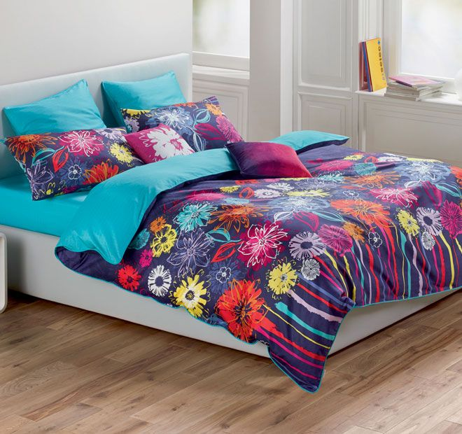 Energise Floral ESPRIT  Features: Cotton 260 thread count Printed Reversible - #quiltcovers