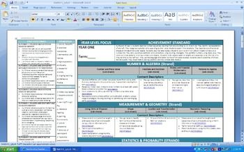 Year 1 Pack Australian Curriculum Templates with EYLF inclusion