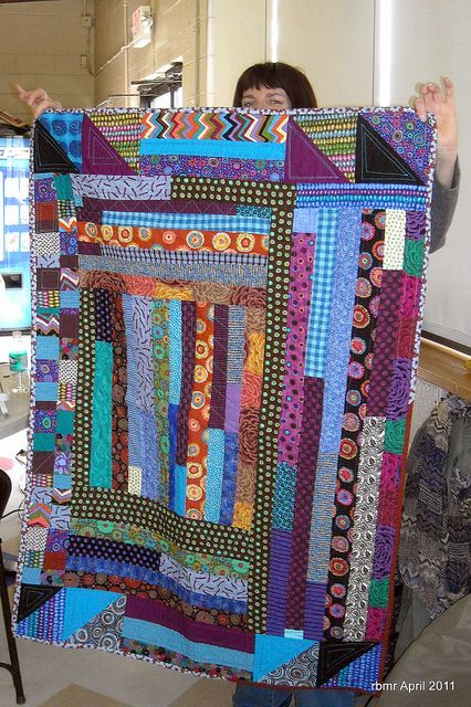 Sue's bold strip quilt | Flickr - Photo Sharing!