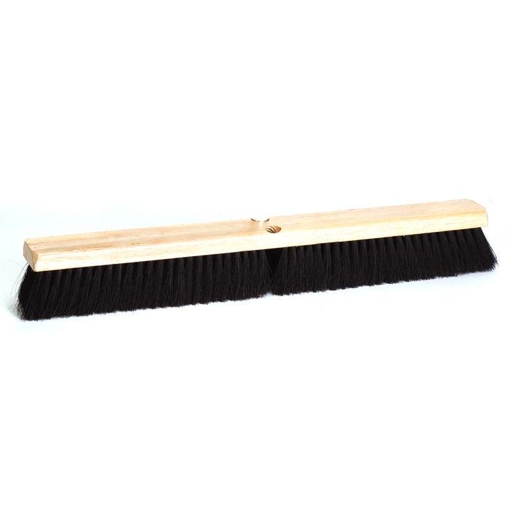 """Jensen DQB Industries 10623 24"""" Black Tampico Floor Broom Head"""