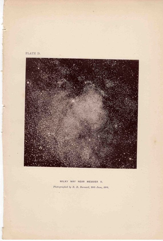 1891 milky way galaxy original antique celestial astronomy print