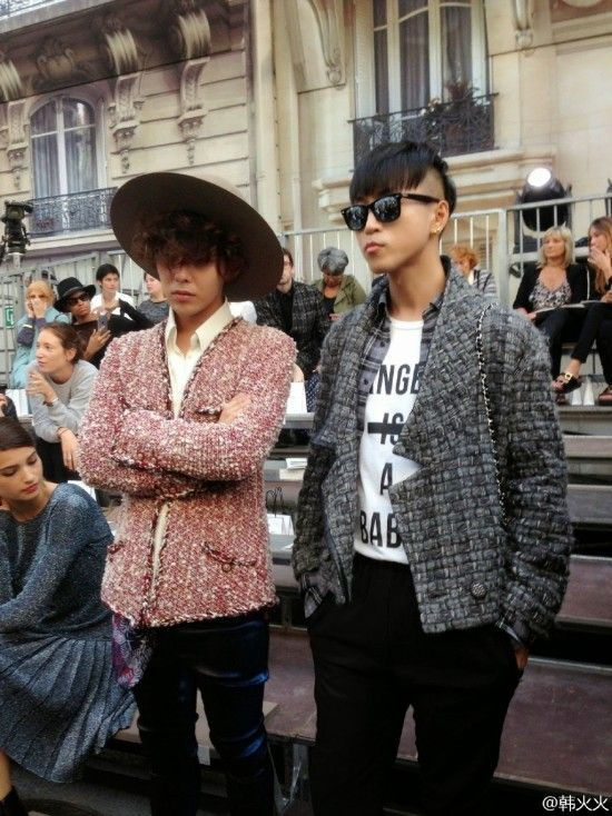 G-Dragon and Mizuhara Kiko spotted at 'Chanel 2015 S/S Show in Paris' | allkpop.com