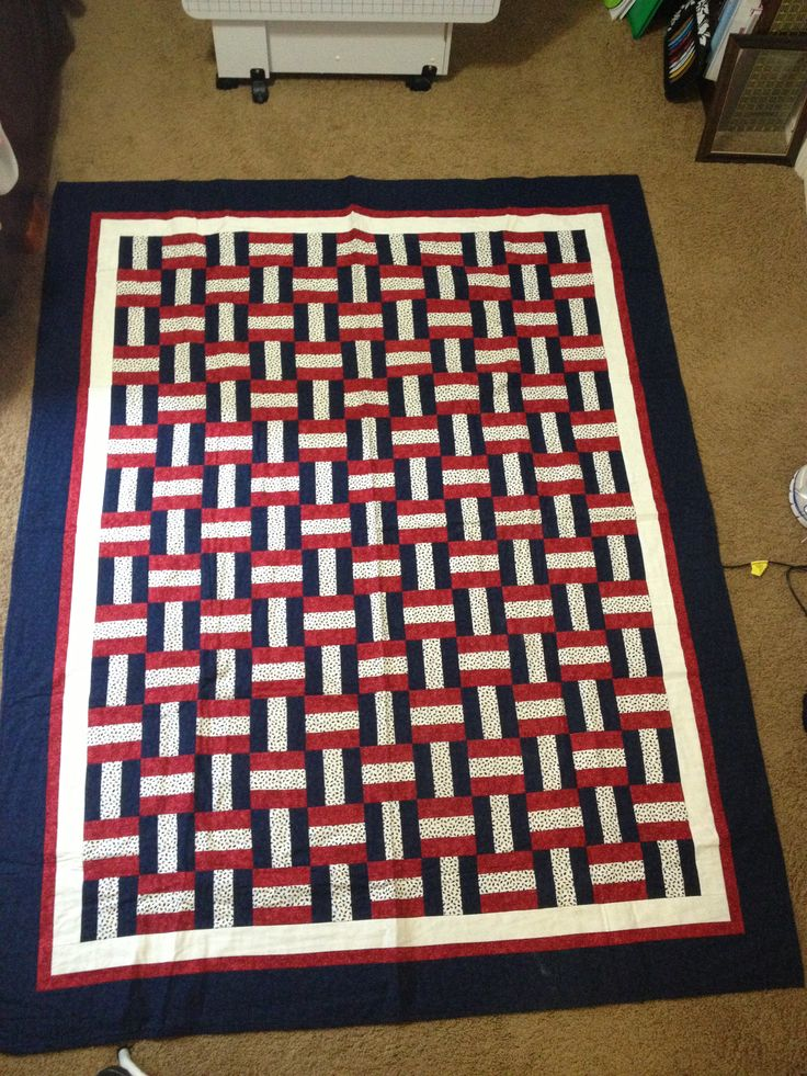 The first quilt I ever made.