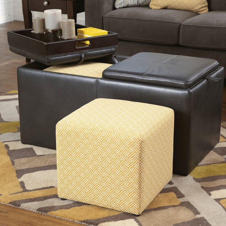 ottoman for living room%0A Signature Design By Ashley Hodan Ottoman with Storage  Marble   from  hayneedle com  Ottoman With StorageLiving Room