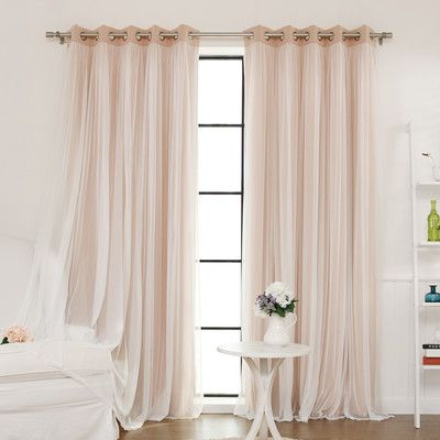 Tulle blackout curtains!