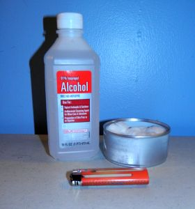 Rubbing Alcohol stove for emergencies