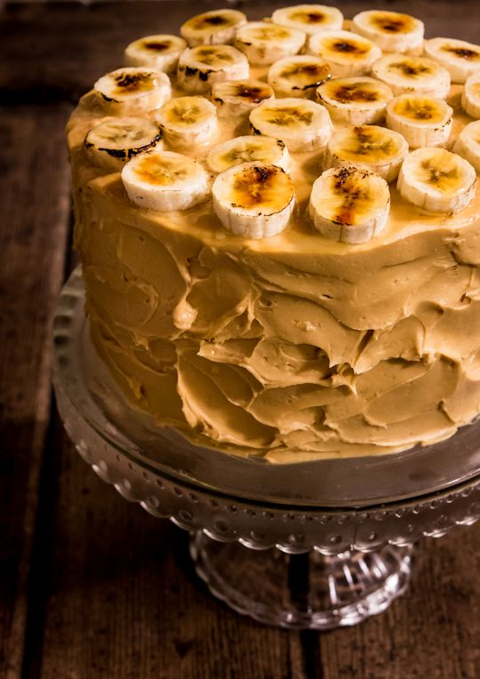 Banana Cake with Salted Caramel Icing