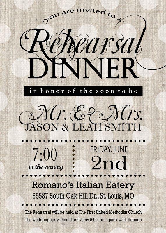 Printable Rehearsal Dinner Invitation - Rustic Rehearsal Invitation - Shabby Chic Neutral Black and Gray Invitation  @NA H