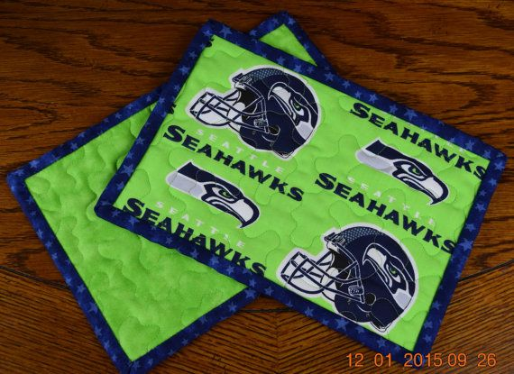 SEATTLE+SEAHAWKS+Mug+Rug+Quilted++Free+shipping+by