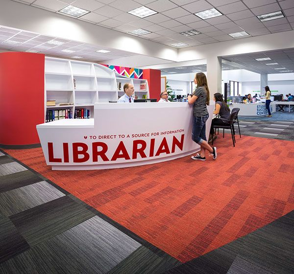 Renovation Of A 38500 SF Parker Williams Library At San Jacinto College South Campus In Houston TX The Integration Vibrant Interior Finishes