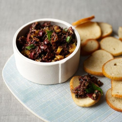 What makes this tapenade special is the clever mix of oil- and brine-cured olives and the surprise of sweet, fresh and tangy notes from the dried figs, mint and capers.