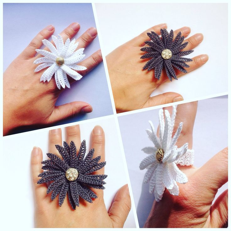 Brighten up your outfit with my new daisy rings. These are so cute, come in 3 sizes s-m-l and are machine washable.
