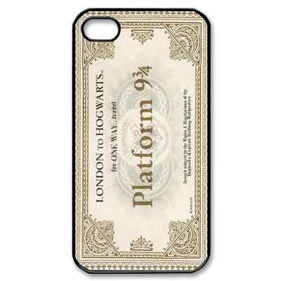 New Harry Potter Hogwarts Express Train Ticket fans Black Iphone 4 4s case
