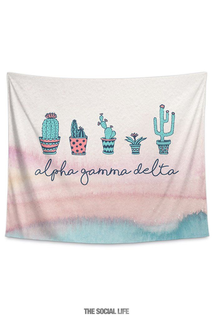 Alpha Gamma Delta Cacti Tapestry With Images Kappa Delta Gifts