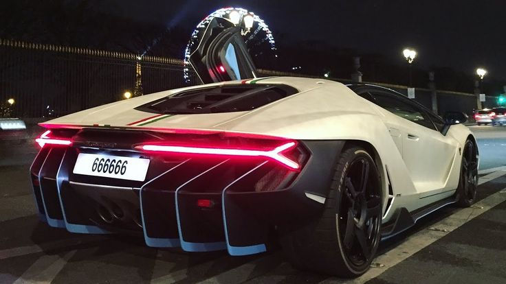 FIRST Lamborghini CENTENARIO on the road ! Start up, sound and drive in Paris