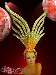 Charismatico Gold Fancy Bird Las Vegas Showgirl Head Gear Headdress | eBay