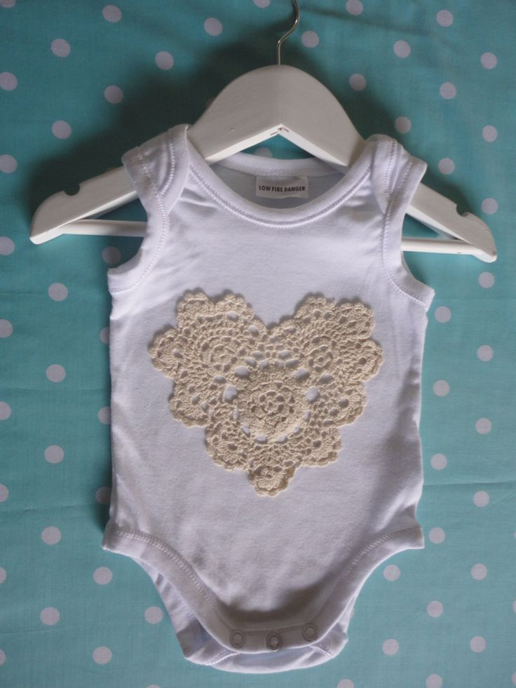 Loveheart doiley onesie. Perfect for dressing by PrettyBabyThings, $22.00