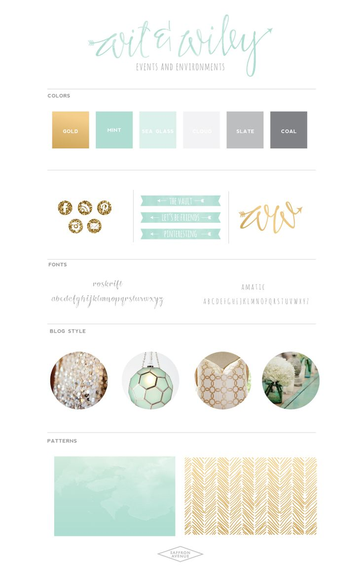 WitWiley-BrandBoard-SaffronAvenue. Fantastic wedding photography branding.